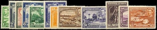 BRITISH GUIANA 1938  SG308s/19s Specimen