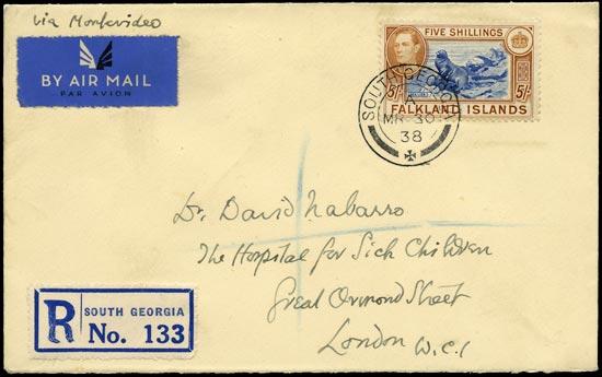 FALKLAND ISLAND DEPS 1938  SGZ86 Cover