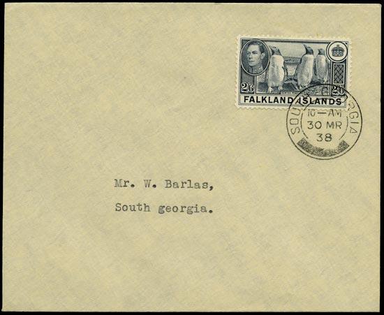 FALKLAND ISLAND DEPS 1938  SGZ85 Cover