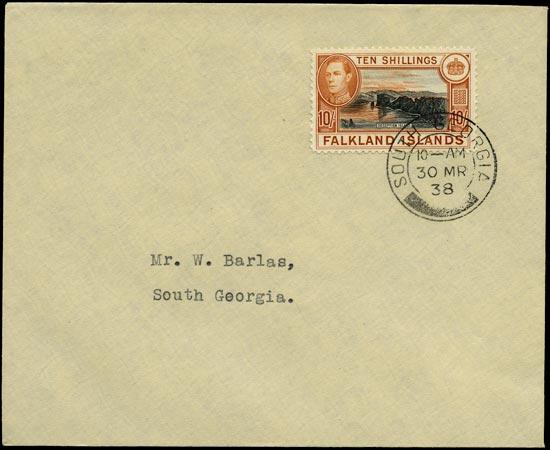 FALKLAND ISLAND DEPS 1938  SGZ87 Cover