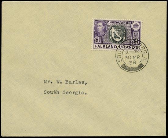 FALKLAND ISLAND DEPS 1938  SGZ88 Cover