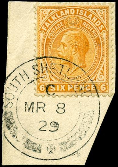 FALKLAND ISLAND DEPS 1921  SGZ146 Cancel