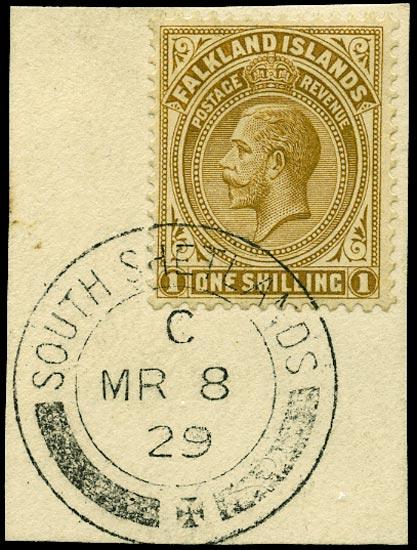 FALKLAND ISLAND DEPS 1921  SGZ147 Cancel
