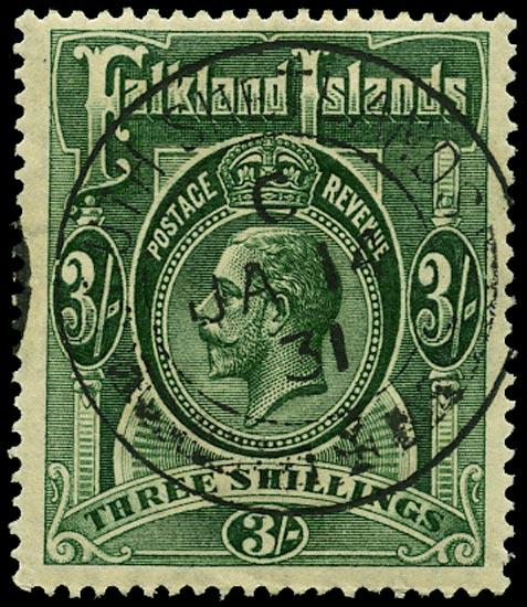 FALKLAND ISLAND DEPS 1921  SGZ148 Cancel