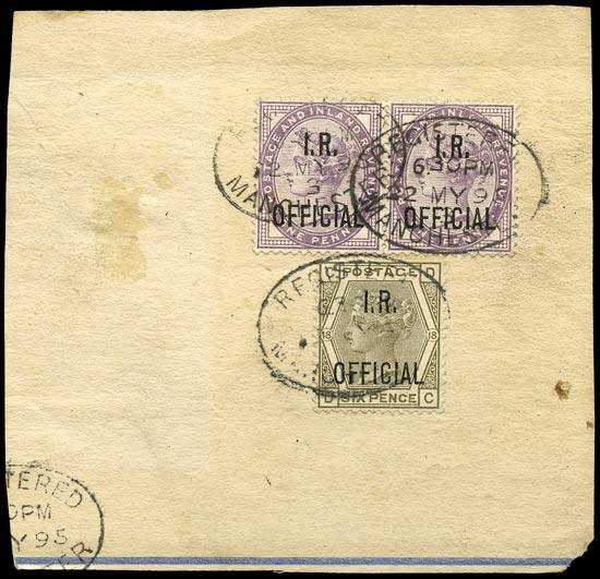 GB 1895  SGO3,O4 Used