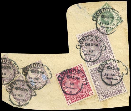 GB 1890  SG172,178,181,207a,211 Used