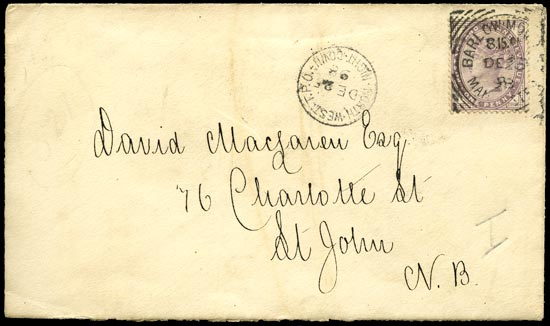 GB 1898  SG172 Cover - Imperial Penny Post FDC