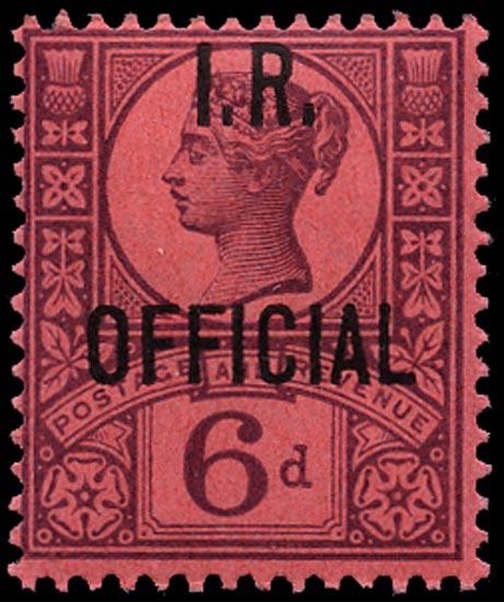 GB 1901  SGO18 Official M/M example
