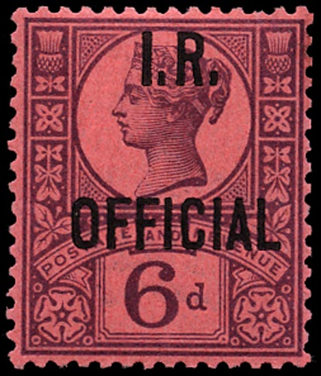 GB 1901  SGO18 Official M/M example