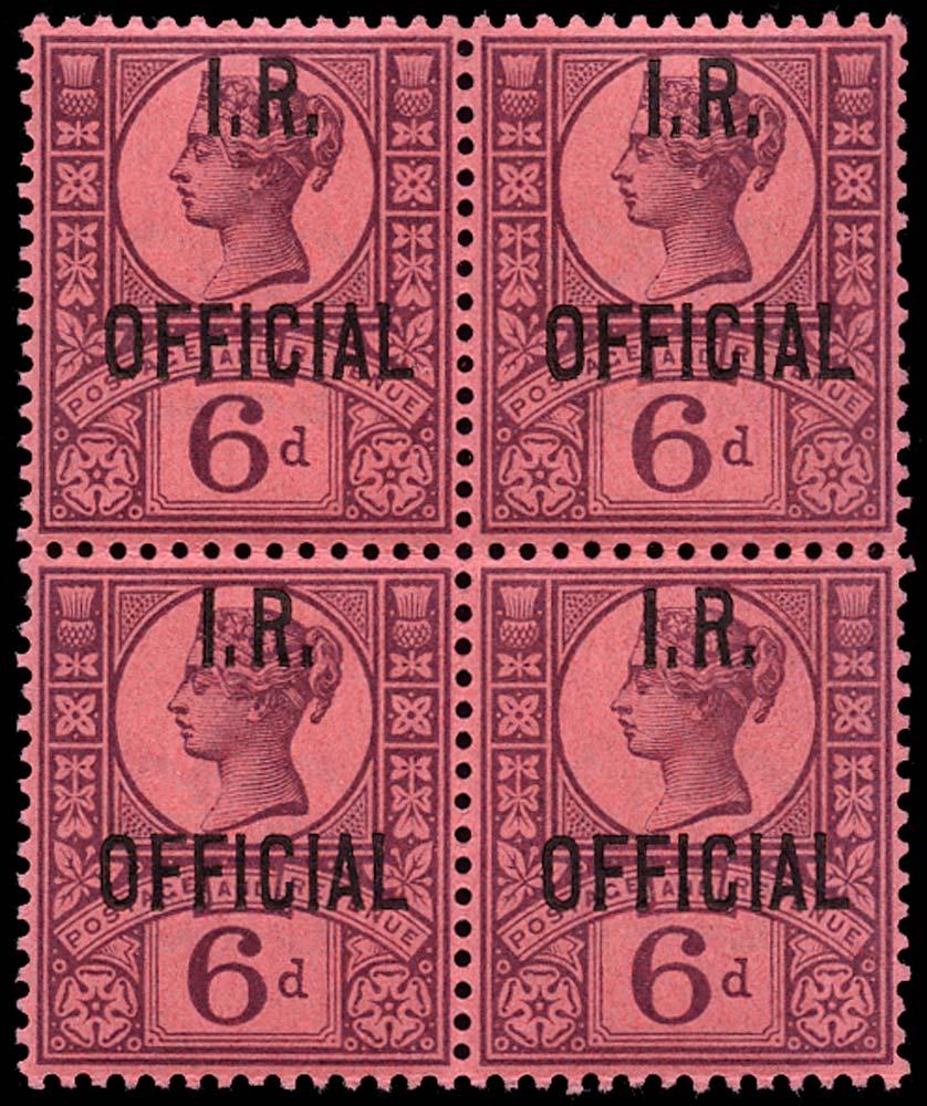 GB 1901  SGO18 Official U/M example