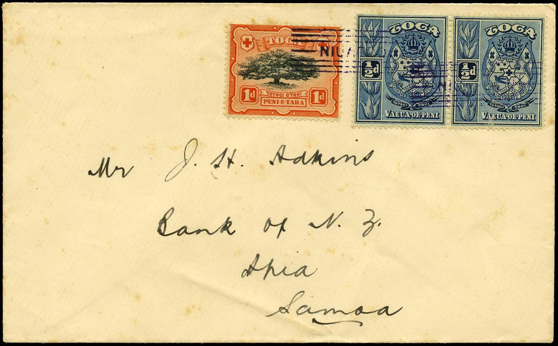 TONGA 1934  SG39b, 38 Cover