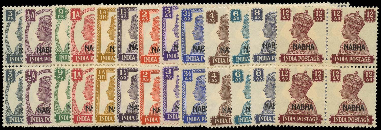 I.C.S. NABHA 1941  SG105/17 Mint