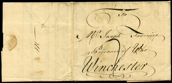GB 1760 Cover - Seven Years War, POW mail