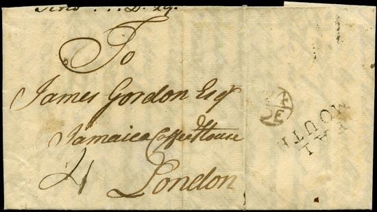 GB 1762 Cover - Madeira to 'Jamaica Coffee House'
