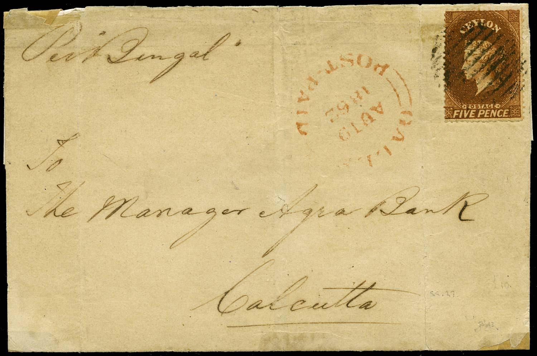 CEYLON 1862  SG22 Cover