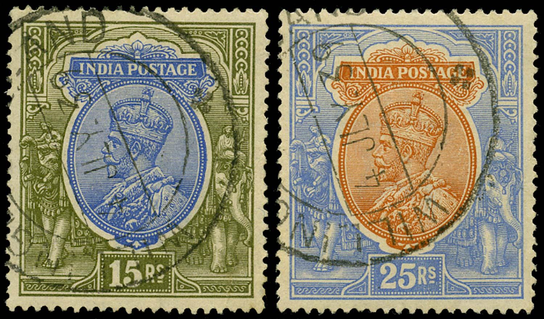 INDIA 1911  SG190/1 Cancel