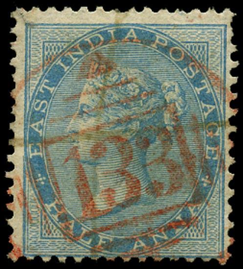 INDIA 1865  SG55 Cancel