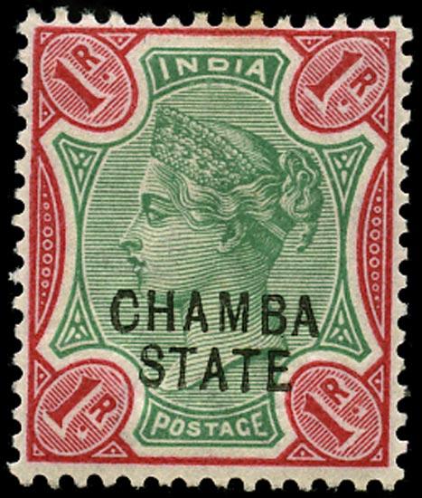 I.C.S. CHAMBA 1887  SG18a Mint