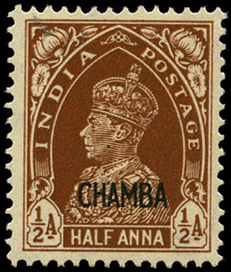 I.C.S. CHAMBA 1942  SG100 Mint