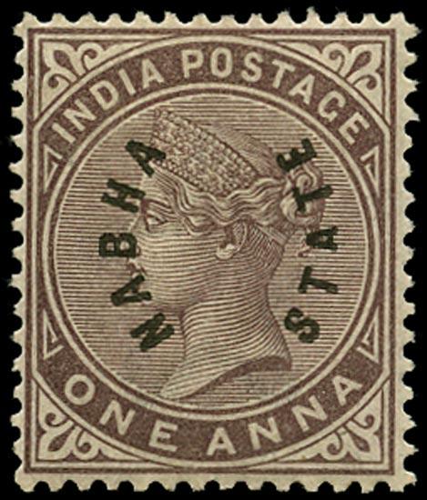 I.C.S. NABHA 1885  SG2 Mint