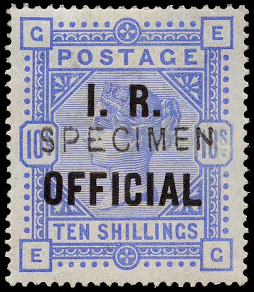 """GB 1885  SGO9ds Official """"SPECIMEN"""" type 11"""