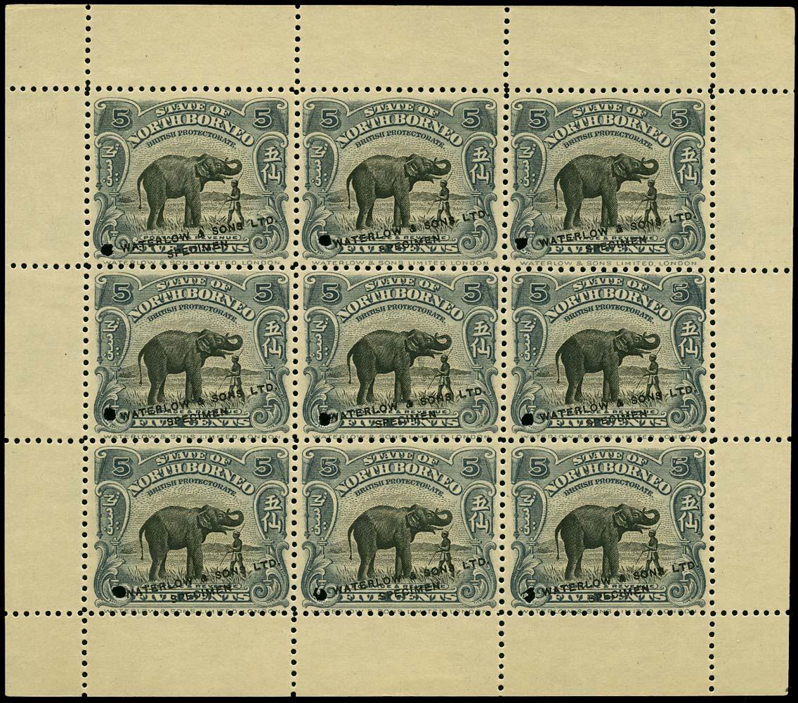 NORTH BORNEO 1909  SG165 Proof