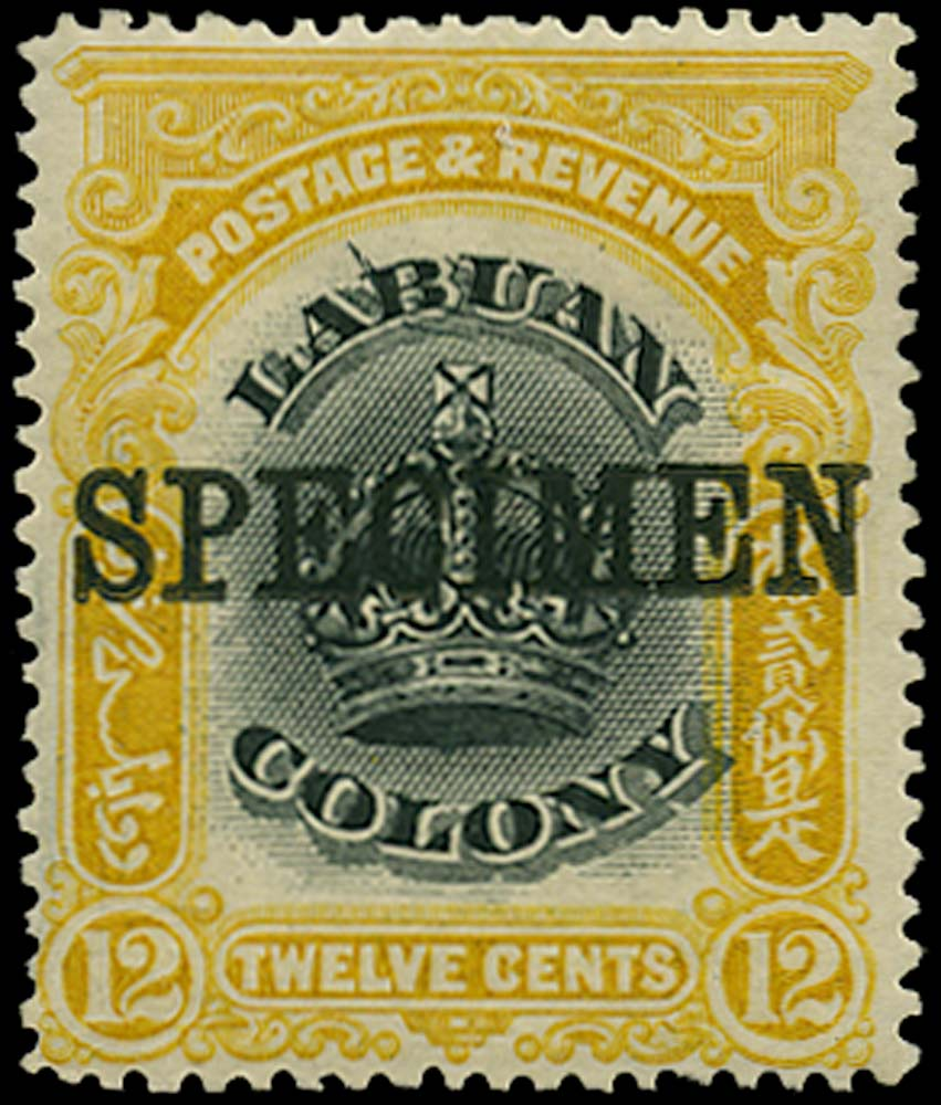 LABUAN 1902  SG123cs Specimen
