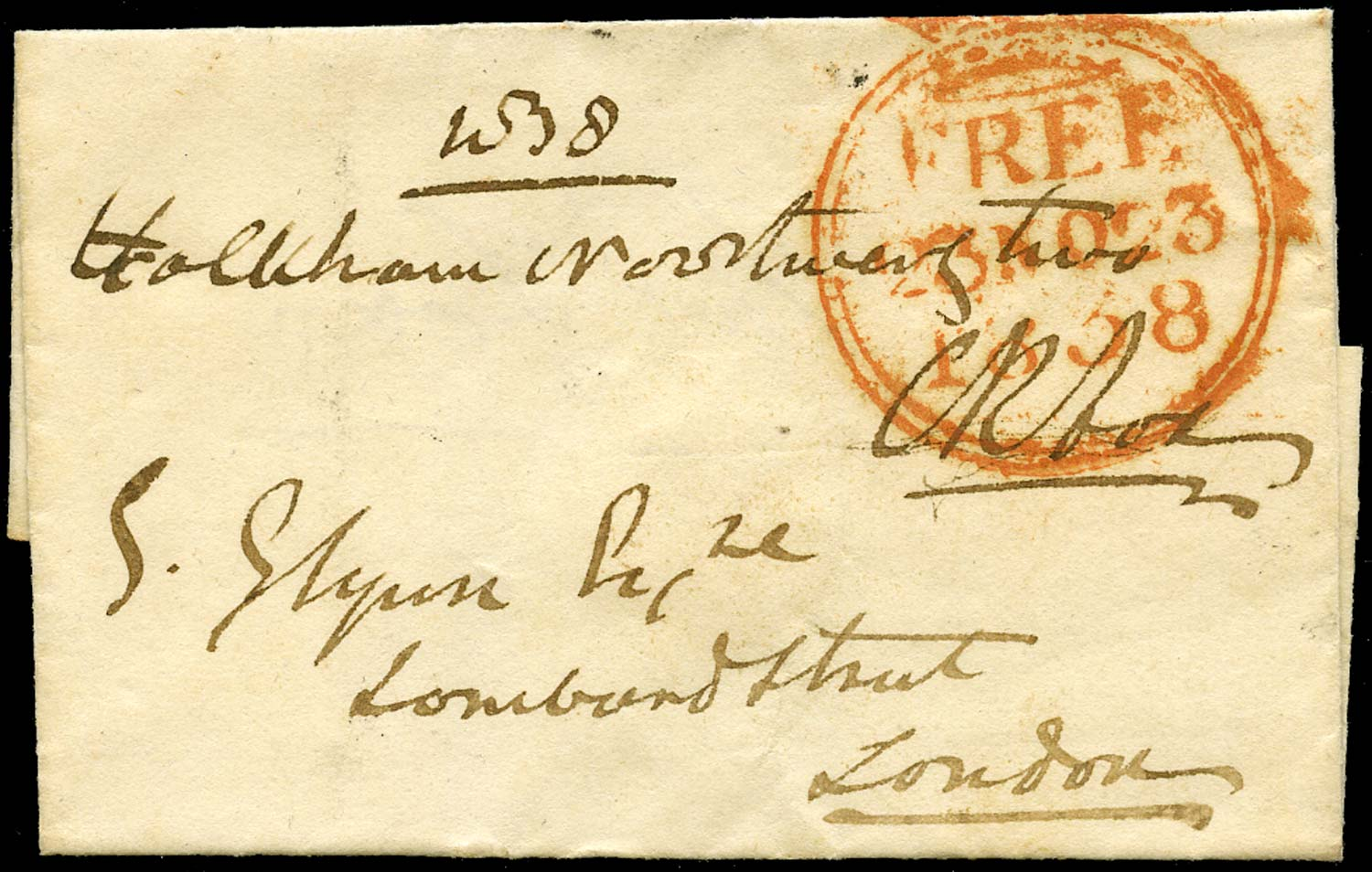 GB 1838 Pre-Stamp Free Frank Mail