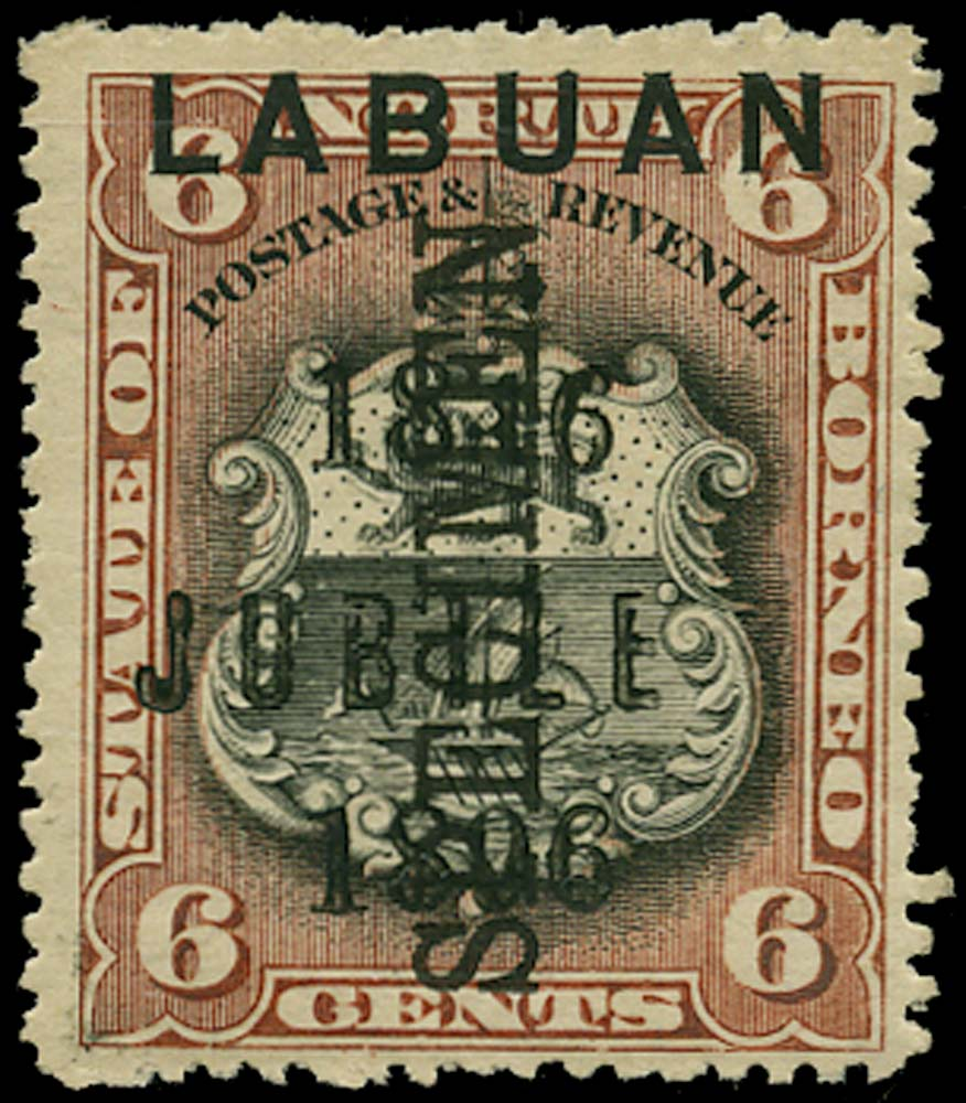 LABUAN 1896  SG87cs Specimen