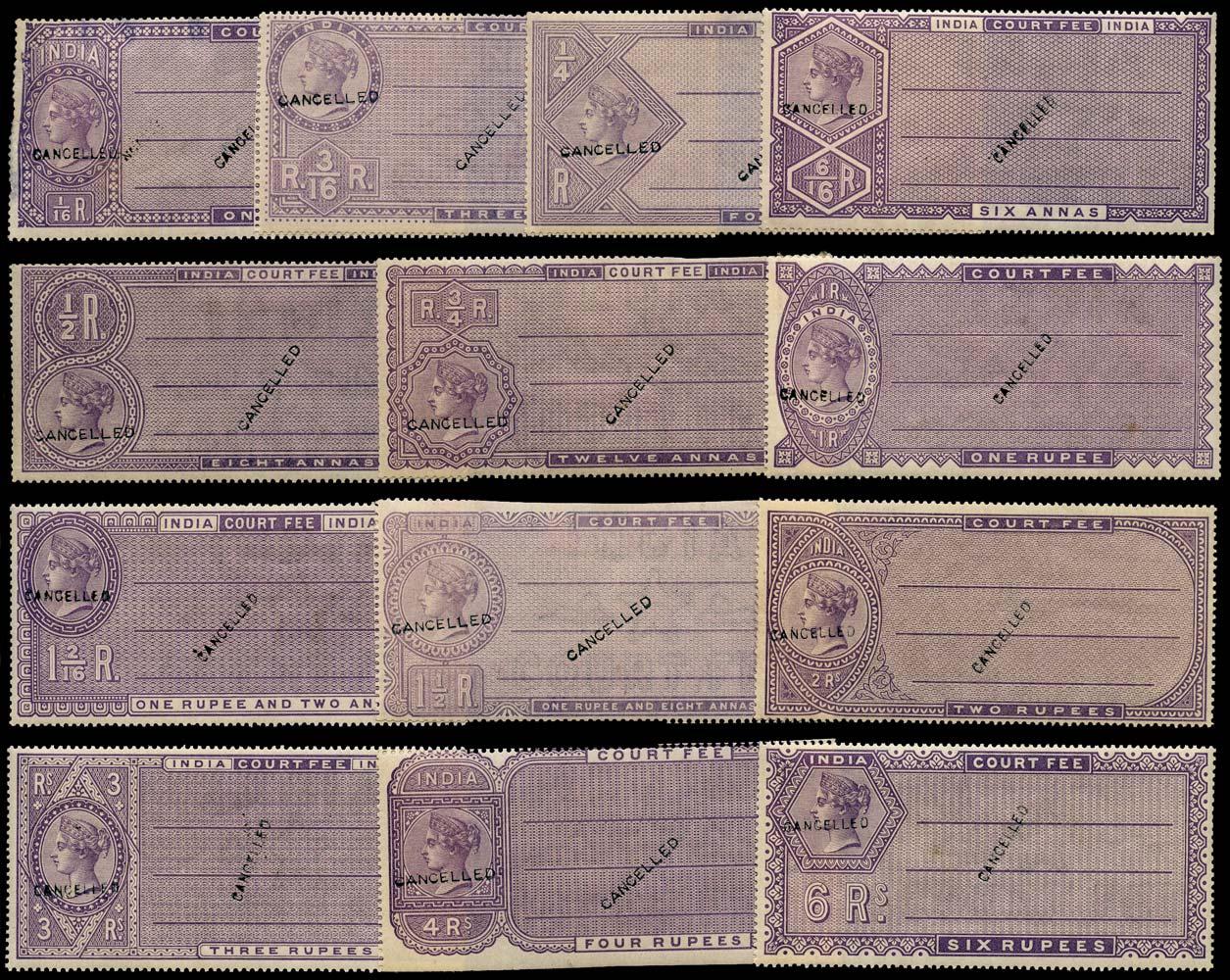 INDIA 1882 Revenue Court Fee