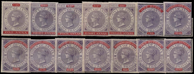 INDIA 1863 Revenue Share Transfer complete set