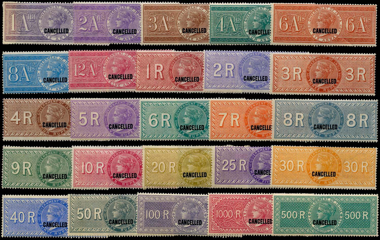 INDIA 1868 Revenue Special Adhesive