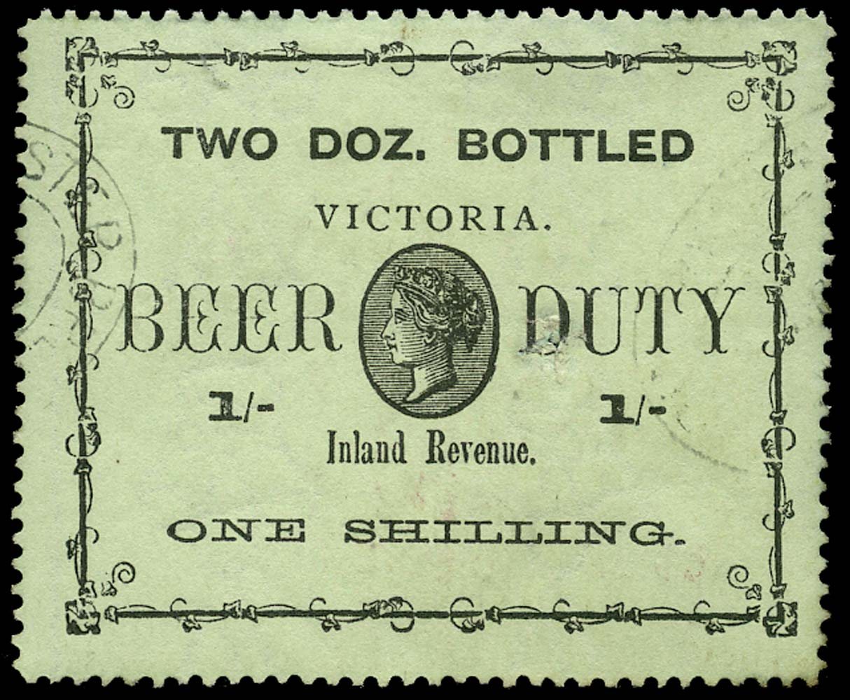 VICTORIA (AUS) 1892 Revenue Beer Duty