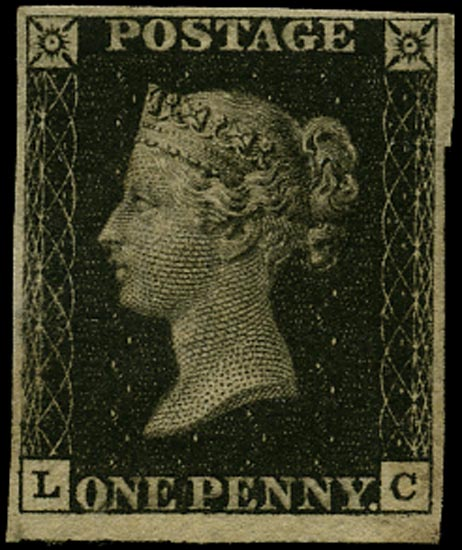 GB 1840  SG2 Pl.9 Penny Black Unused o.g. example (LC)
