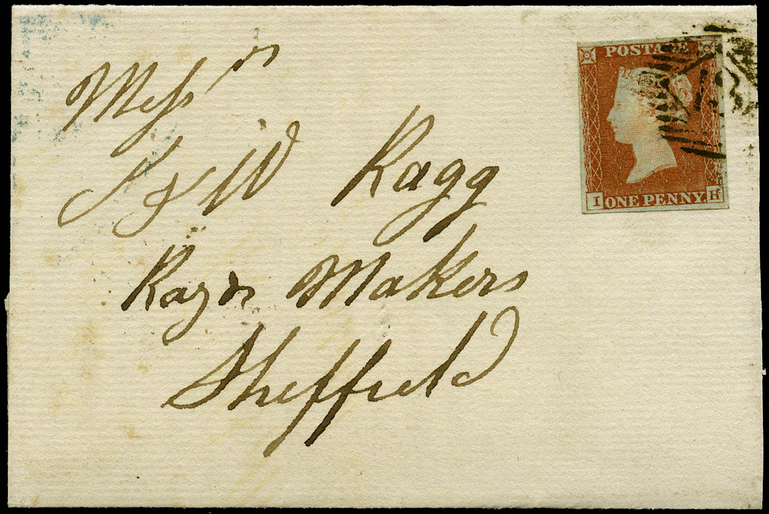 GB 1841  SG8 Cover London to Sheffield