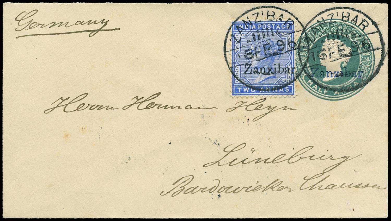 ZANZIBAR 1896  SG7 Cover