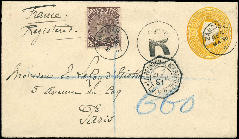 ZANZIBAR 1891  SGZ83 Cover
