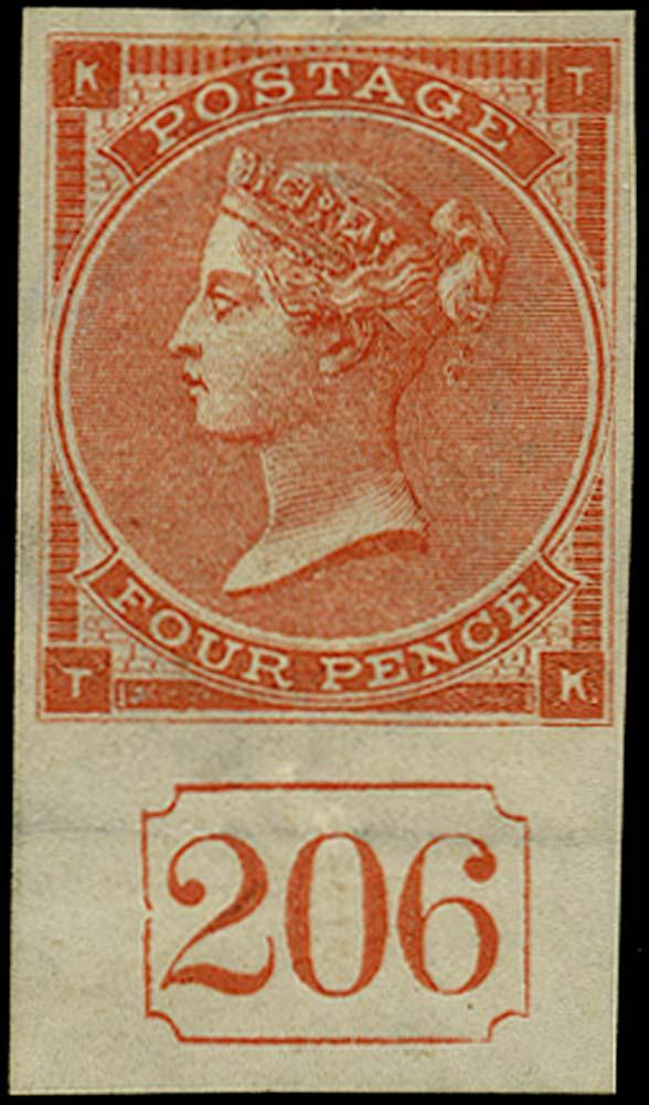 GB 1862  SG79 Pl.3 Mint current number