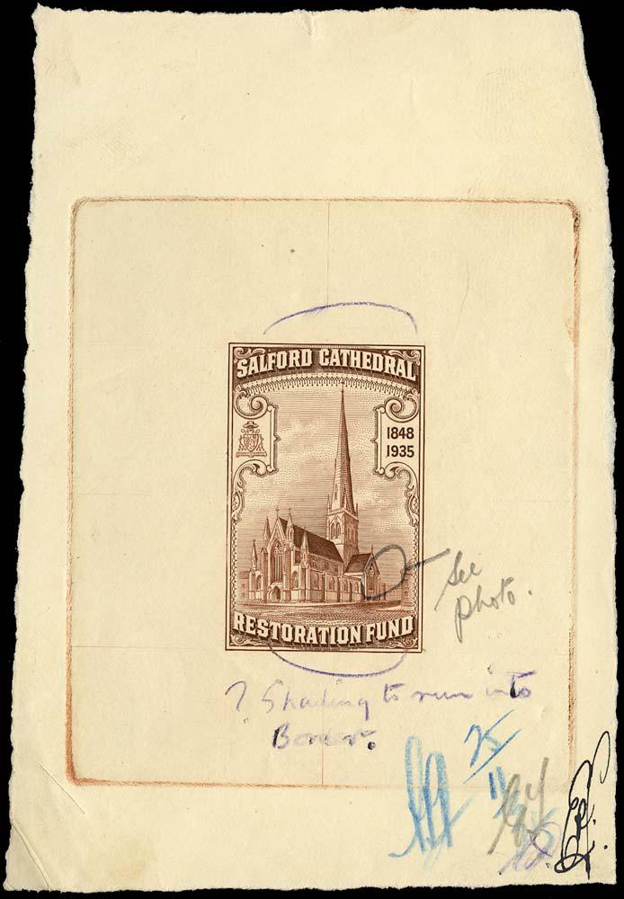 GB 1935 Cinderella - Salford Cathedral Restoration Fund die proof