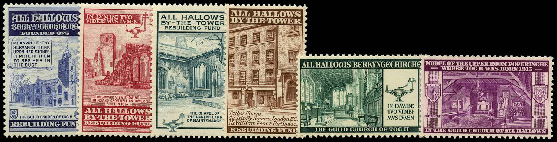 GB 1943 Cinderella - 1943 All Hallows By-The-Tower Rebuilding Fund u/m