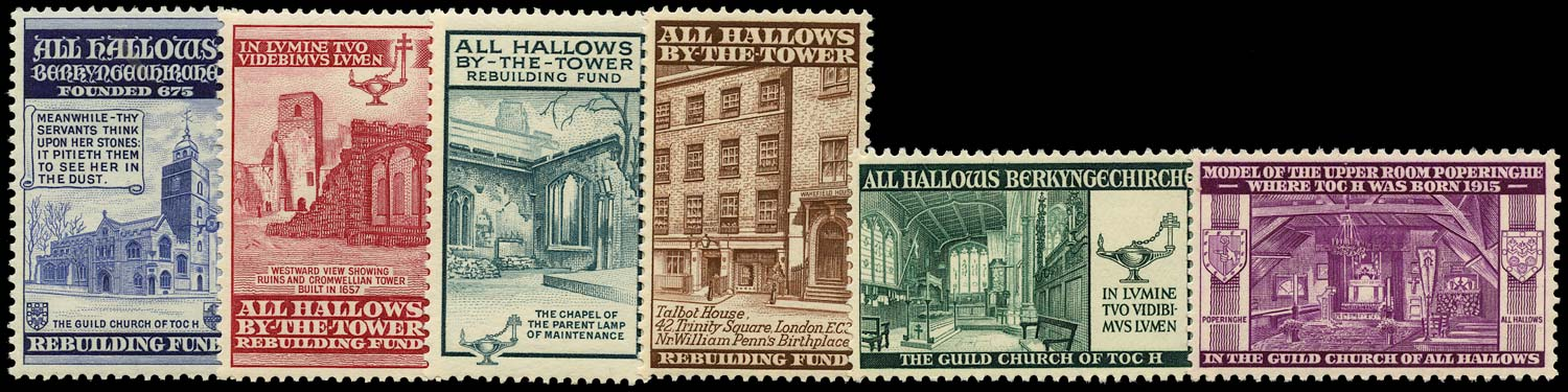 GB 1943 Cinderella - 1943 All Hallows By-The-Tower Rebuilding Fund u/m