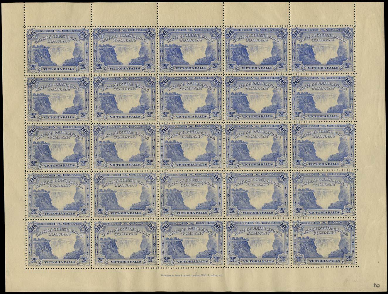 RHODESIA 1905  SG95 Mint