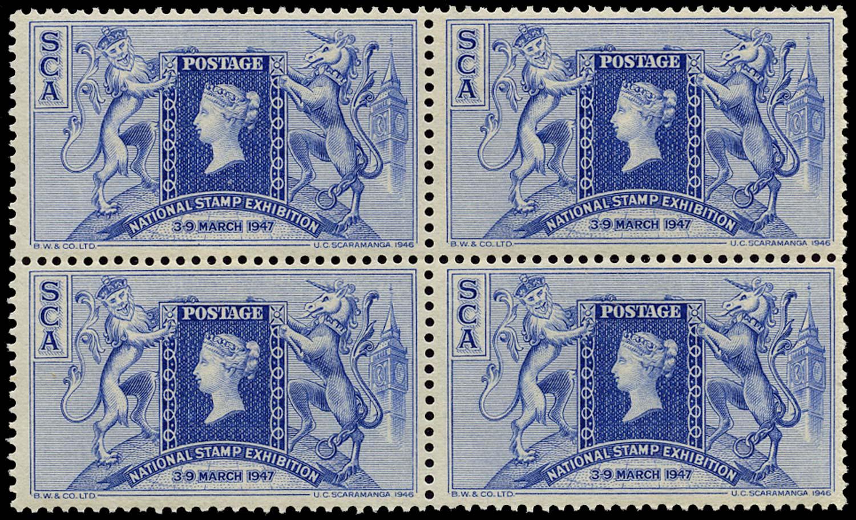 GB 1947 Cinderella - 1947 National Stamp Exhibition souvenir label