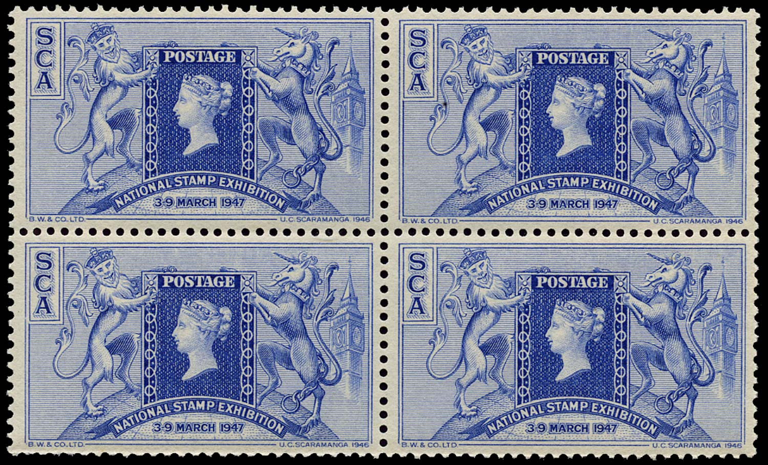 GB 1947 Cinderella - 1947 National Stamp Exhibition souvenir label
