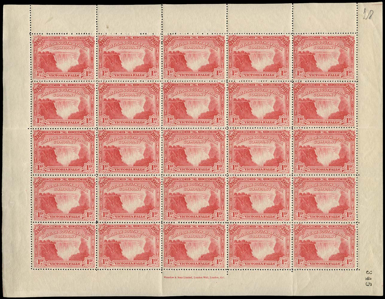 RHODESIA 1905  SG94 Mint