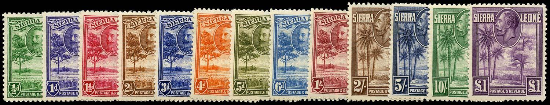 SIERRA LEONE 1932  SG155/67 Mint KGV set of 13 to £1