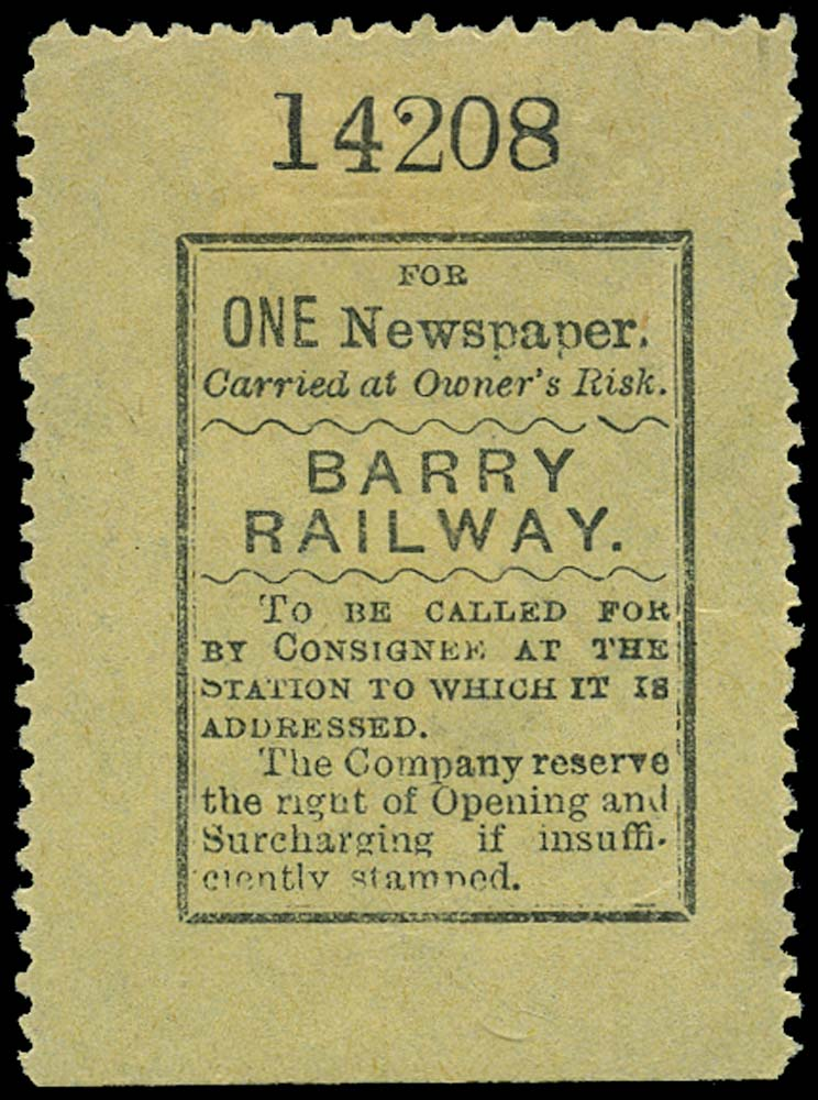 GB 1900 Railway - Barry Railway