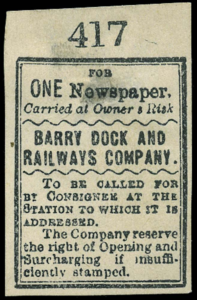 GB 1899 Railway - Barry Railway