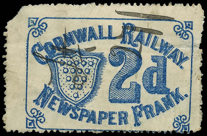 GB 1883 Railway - Cornwall Railway