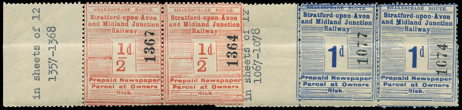GB 1906 Railway - Stratford-upon-Avon and Midland Junction